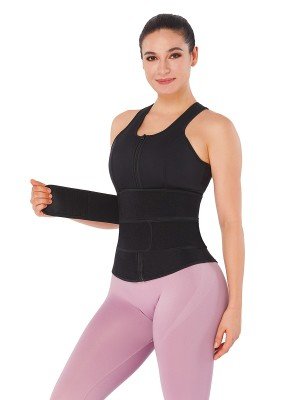 Black Neoprene Waist Trainer Vest Adjustable Belts Weight Loss