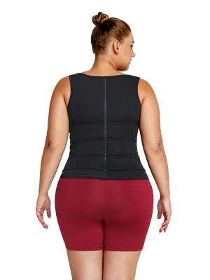 Black Neoprene Waist Trainer Plus Size Three-Belt Figure Slimmer