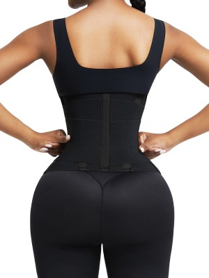 Black Neoprene Waist Trainer 5 Plastic Bones Sticker Weight Loss