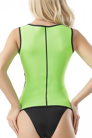 Firm Control Plus Green Fullness Shaper Zip Up High Back