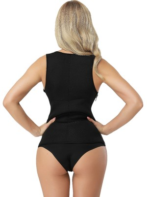 Compression Zipper Side Tank Shapewear Open Bust