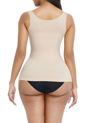 Shaping Skin Color Large Size Tank Shaper Full Back Seamless