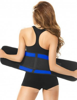 Powerful Latex Blue Large Slender Waist Trimmer Belt