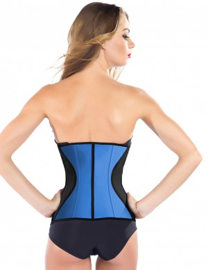 Cheap 9 Steel Boned Latex Waist Training Corsets