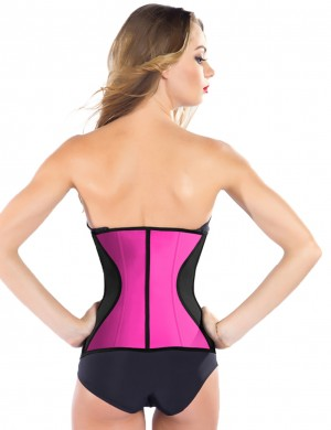 Cheap 9 Steel Boned Plus Size Latex Waist Corset