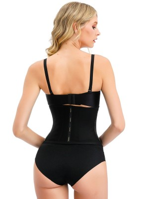 Latex Black Waist Trainer 13 Steel Bones