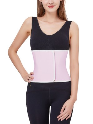 Slim Waist Pink Hourglass Shape Postpartum Belt Sticker Soft-Touch