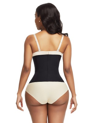 Weight Loss Black Plus Size Waist Cincher 9 Steel Bones Tummy Training
