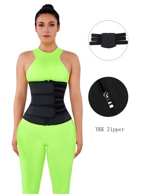 Slimming Stomach Black Three Belts Latex Waist Trainer Big Size