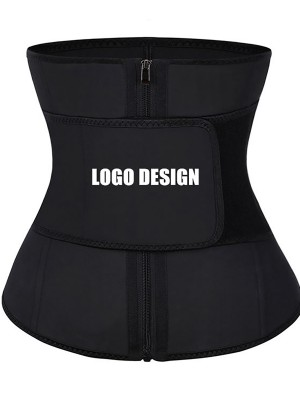Black Adjustable Belt Latex Waist Cincher For Curve-Creating