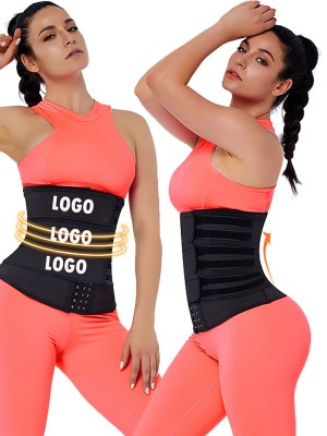 Tummy Training Black Hooks Latex Three-Belt Waist Trainer