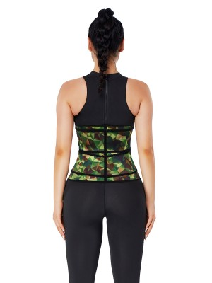 Camo Latex Double Belts Waist Trainer Medium Compression