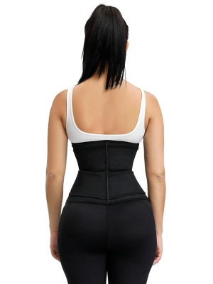 Black 3 Rows Hooks Waist Cincher Sticker