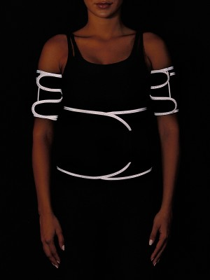 Light Gray Reflective Neoprene Waist Trainer With Sticker Waist Control
