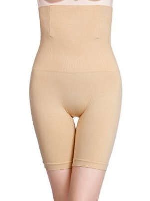 Skin Color Abdomen Control Pants Plus Size