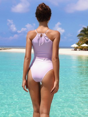 Cozy High Waist One Piece Swimsuit Halter Seamless
