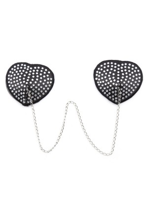Incredibe White Heart-Shaped Metal Chain Pasties Bra For Summer