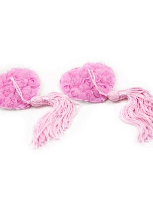 Euphoric Pink Reusable Rose Tassel Nipple Sticker Slim Style