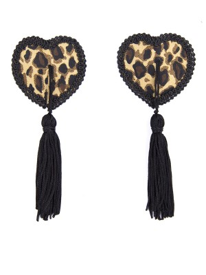 Fashionable Heart-Shaped Leopard Print Nipple Cover Superior Comfort