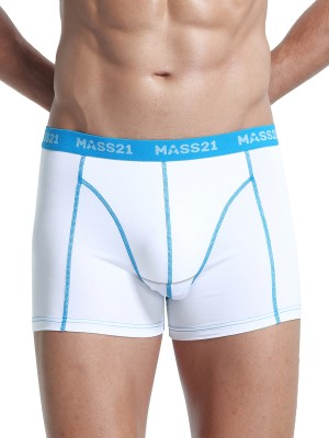 Elasticity White Men Boxer Brief Contrast Color For Any Seasons