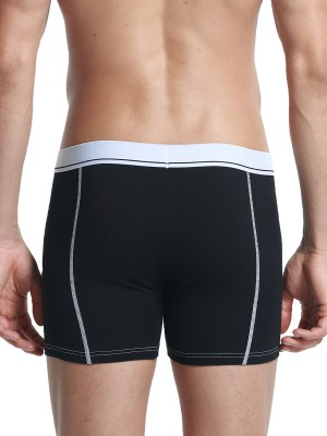 Slutty Black Low Rise Boxer Briefs Stripe Men Fashion