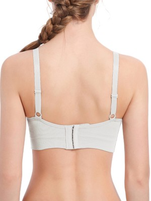 Comfortable White Front Opening Spaghetti Strap Maternity Bra For Woman