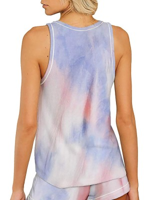 Seductress Sleeveless Cami Tie Dye Shorts Modern Fit All Over