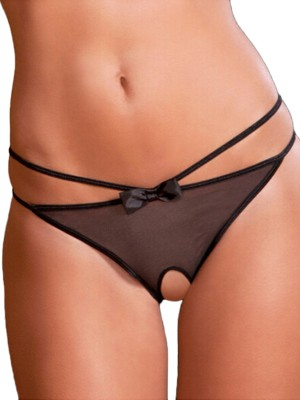 Super Faddish Black Big Size Hollow Out Low Waist Panty Mature Female Fashion