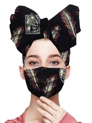 Simplicity Batik African Headscarf Dustproof Mask Women Fashion