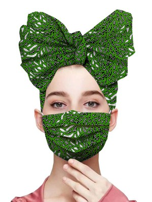 Shimmer Exotic Print Headscarf Anti-Dust Mask Ultra Sexy