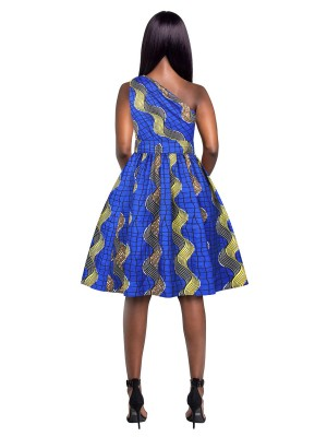 Sophisticated Midi Dress Fitted Waist African Pattern Fashion Ideas