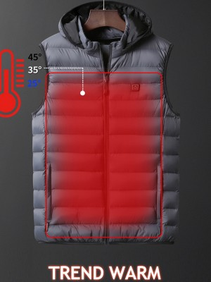 Gray Electric Heat Vest Temperature Adjustment Fashion Insider