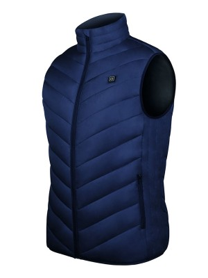 8 Heating Zones Blue Electric Heated Clothing Classic Fashion