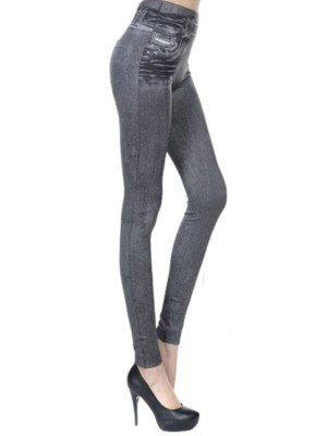Gray Yoga Pants Button Design Big Size Women's Fashion