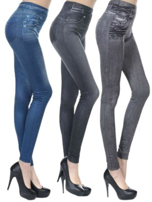 3 Pieces Ankle Length Jeans Fake Pocket Womens Fashion Online Shopping