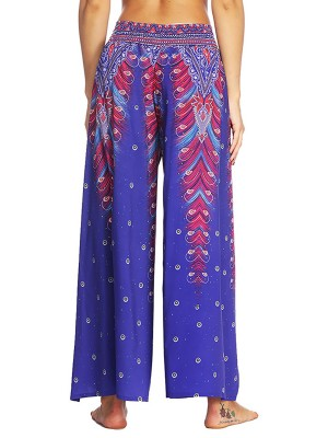Exclusive African Painted High Slit Pants High Waist Online Fashion