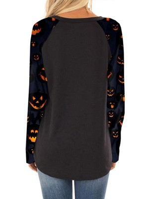 Extreme Black Halloween Long-Sleeved Print Shirt Regular Fit
