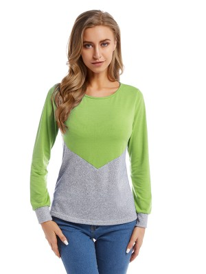Dazzles Light Green Contrast Color Blouse Queen Size Unique