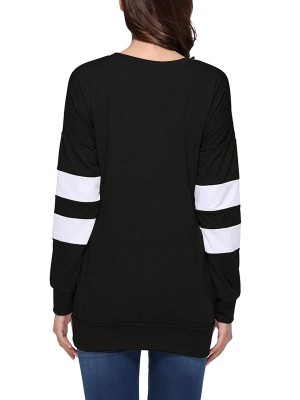 Black Knitted Long Sleeve Lightweight Tunic Sweatshirt