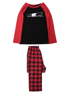 Mom High Rise Bear Pattern Loungewear Set Chic Trend