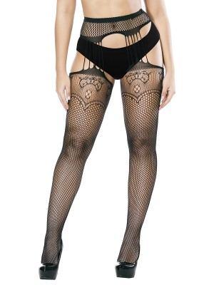 Pretty Black High Waist Pantyhose Full Length Affordable