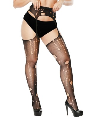 Fabulous Black Sheer Mesh Garter Slender Sling For Girl