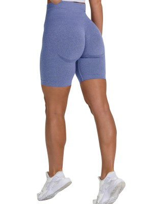 Luscious Royal Blue Seamless Solid Color Running Shorts Women's Clothing