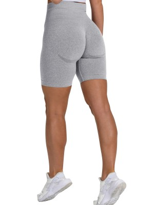 Perfectly Light Gray High Rise Mid-Thigh Length Shorts Stretched