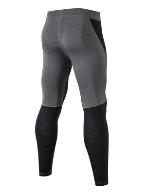 Elastic Black Seamless Men's Leggings Full Length Loose
