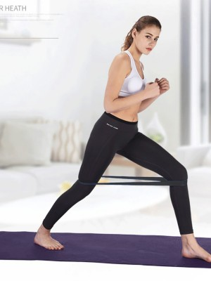 Black Pure Color Yoga Pull Band Latex Comfort Revolution