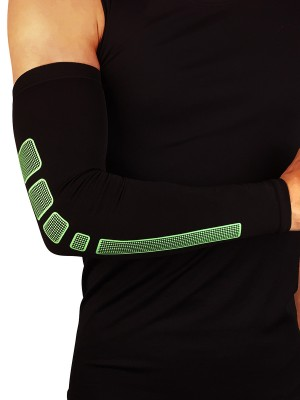 Trendy Green Contrast Color Sports Arm Guard For Runner