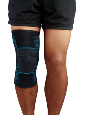 Glorious Blue Colorblock Anti-Slip Insert Kneepad Athletic Outfit