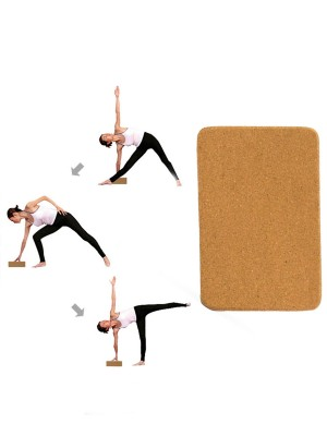 Premium Quality Cork Yoga Brick Solid Color High Density