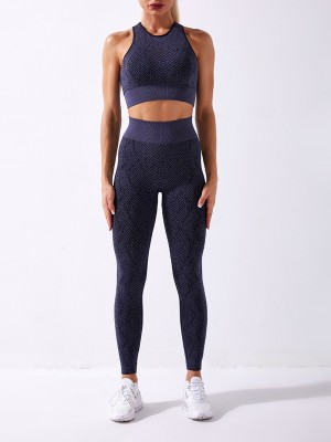 Black Seamless Racerback High Waist Sweat Suit For Fitness